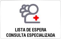 Lista de espera de consulta especializada